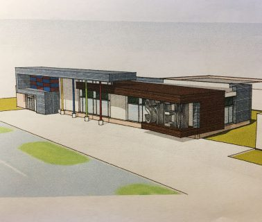 Rendering of exterior of Brooklyn STEM Academy. MSD of Martinsville Indiana