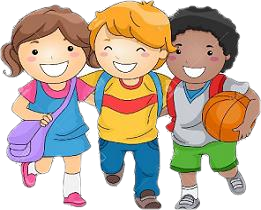 three children smiling cartoon msd of martinsville